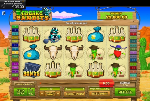 Freaky Bandits™ Slot Machine Game to Play Free in GamesOS iGamings Online Casinos
