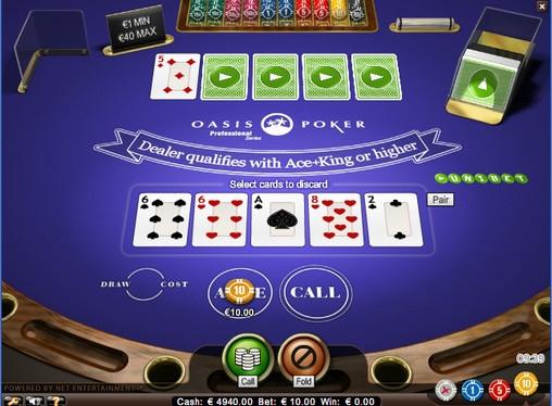oasis poker professional series low casino