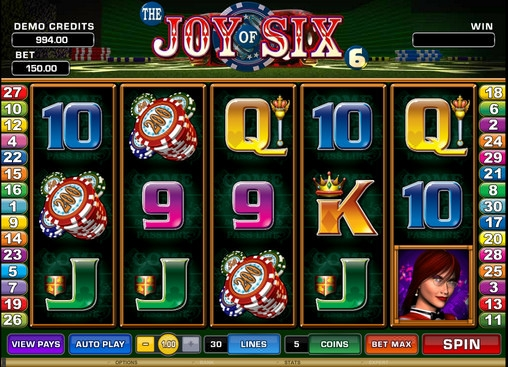 The Joy of Six™ Slot Machine Game to Play Free in Microgamings Online Casinos