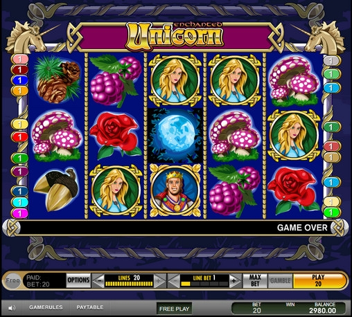 Enchanted Unicorn slot – download eller spil online
