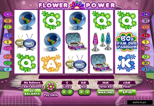 Flower Power™ Slot Machine Game to Play Free in Cryptologics Online Casinos