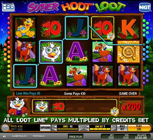 hoot loot slot machine free