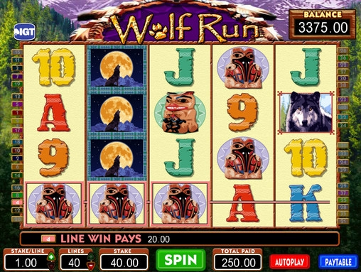 free play slot machines wolf run