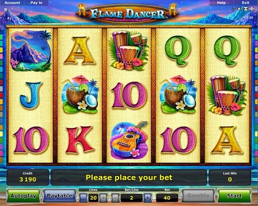 Flame Dancer Slot Machine - Play Novomatic Slots for Free