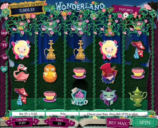 Adventures in Wonderland™ Slot Machine Game to Play Free in AshGamings Online Casinos