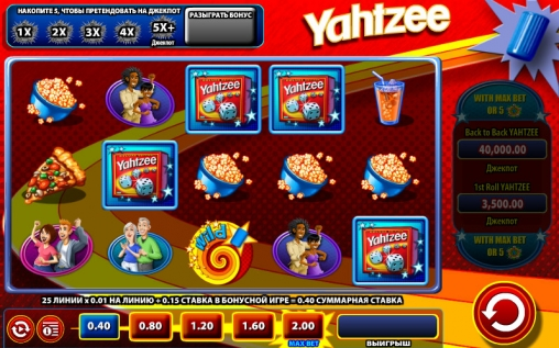 yahtzee video slots