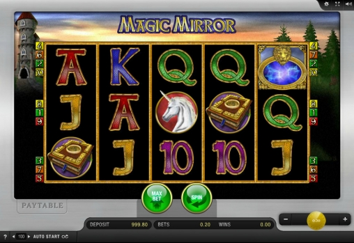 Slot machine magic mirror