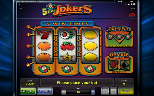 5 Line Jokers Slot Machine - Free Online Game and Review