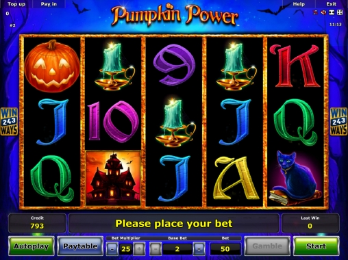 Pumpkin Power Slot - Gratis Online Novomatic Slots-Spiele