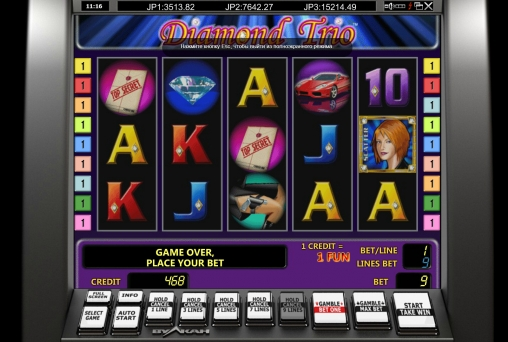 Diamond Trio Slot Machine Online ᐈ Novomatic™ Casino Slots