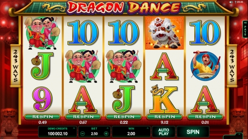Dragon Dance Slot - Play this Game by Microgaming Online