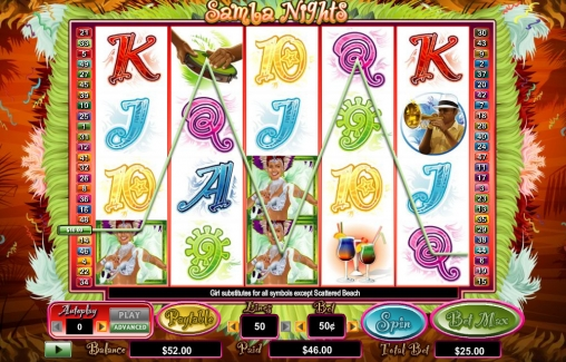 Samba Nights™ Slot Machine Game to Play Free in PartyGamings Online Casinos
