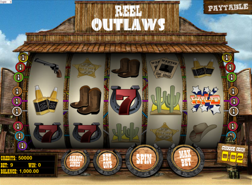 Reel Outlaws™ Slot Machine Game to Play Free in BetSofts Online Casinos
