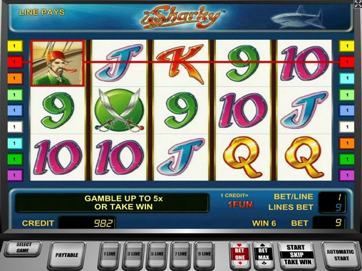 online slot games for money sharky slot