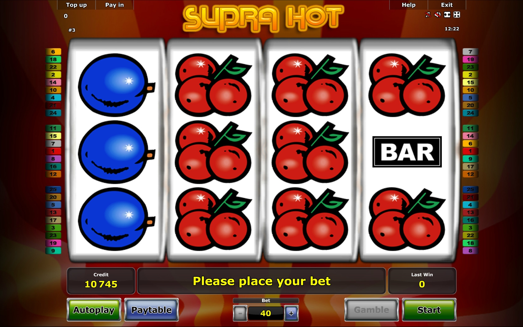 supra hot casino game
