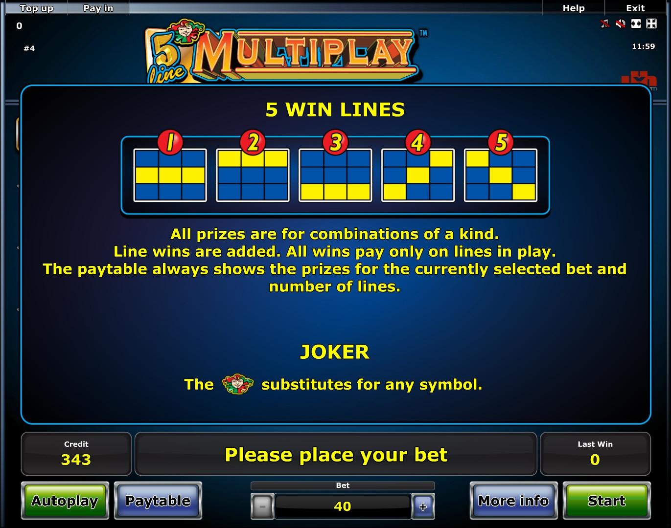 5 line multiplay