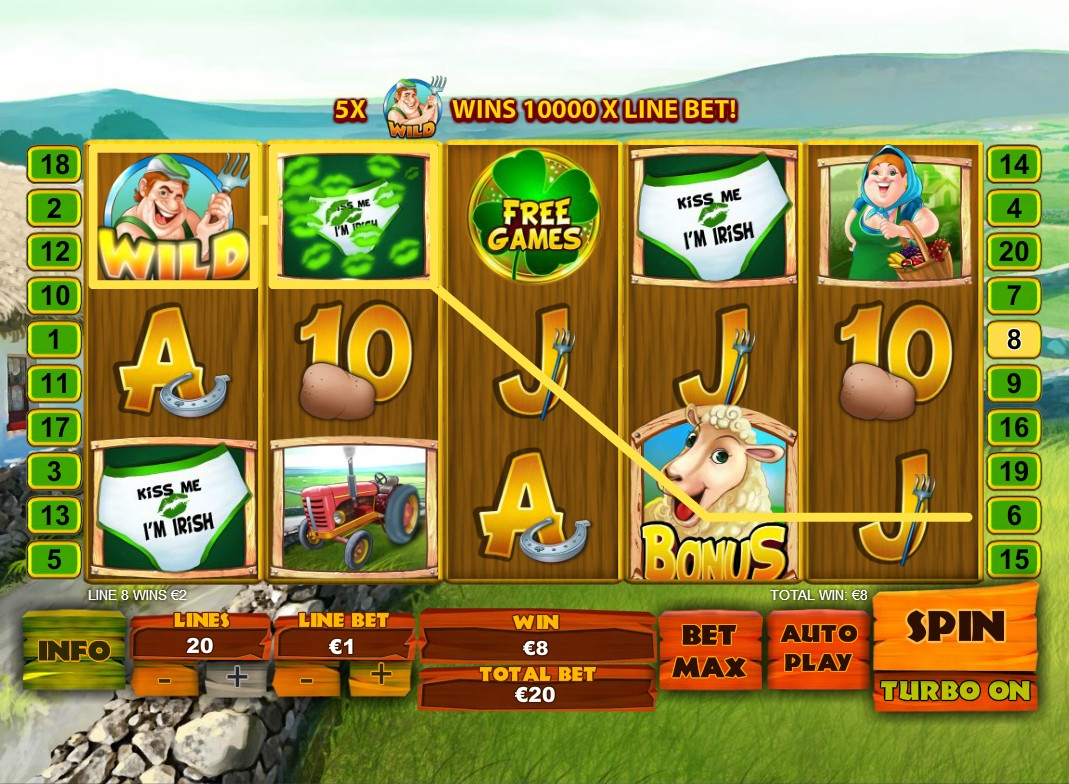 Spud O' Reilly's Crops of Gold Online Slot at Casino.com NZ