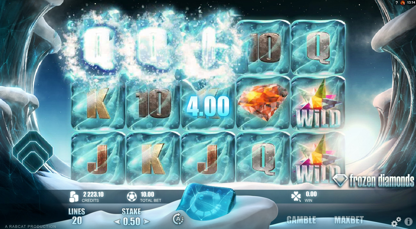 Frozen Diamonds Slot Machine - Free Online Rabcat Slots Game