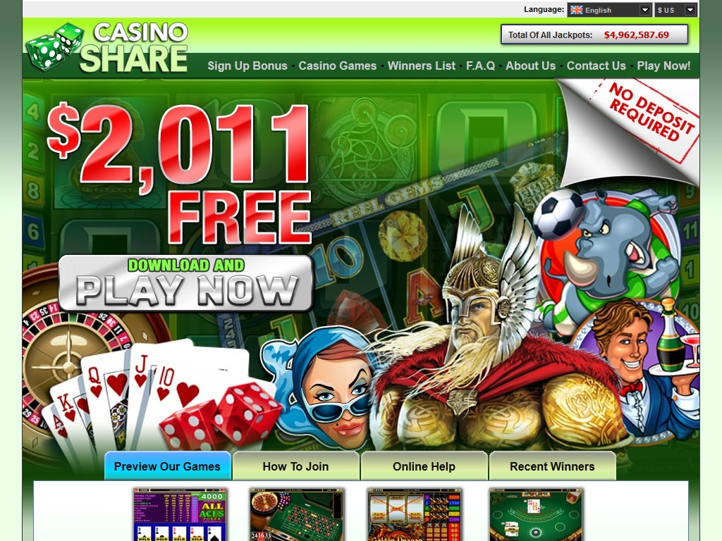 casino share download