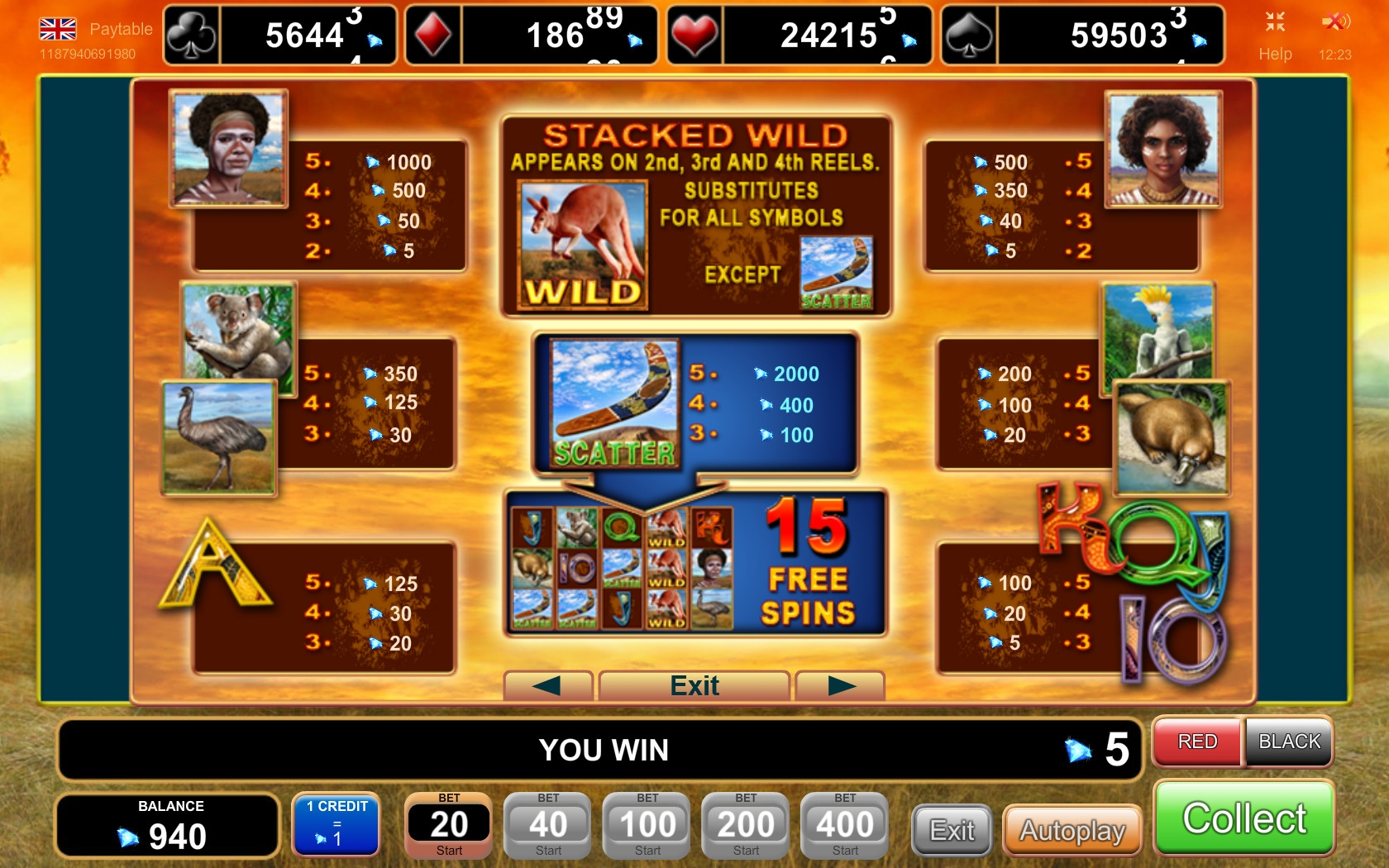 online casino slot kangaroo land