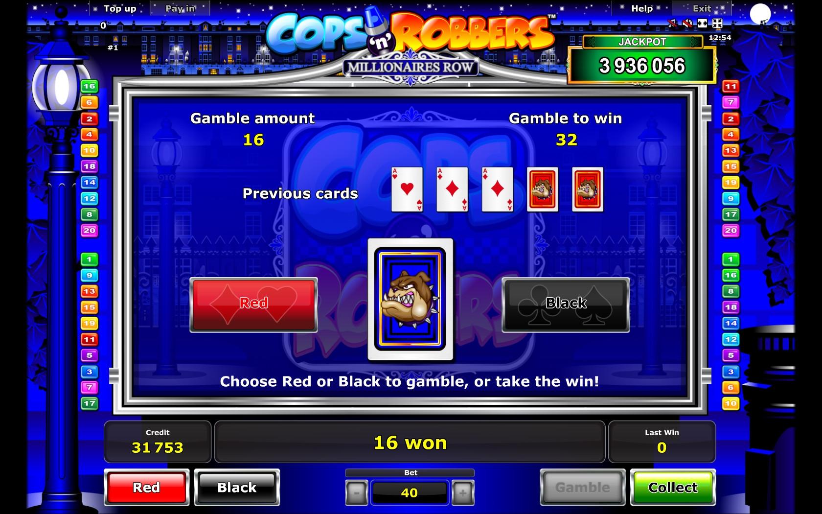 Cops n Robbers Millionaires Row - Casumo Casino