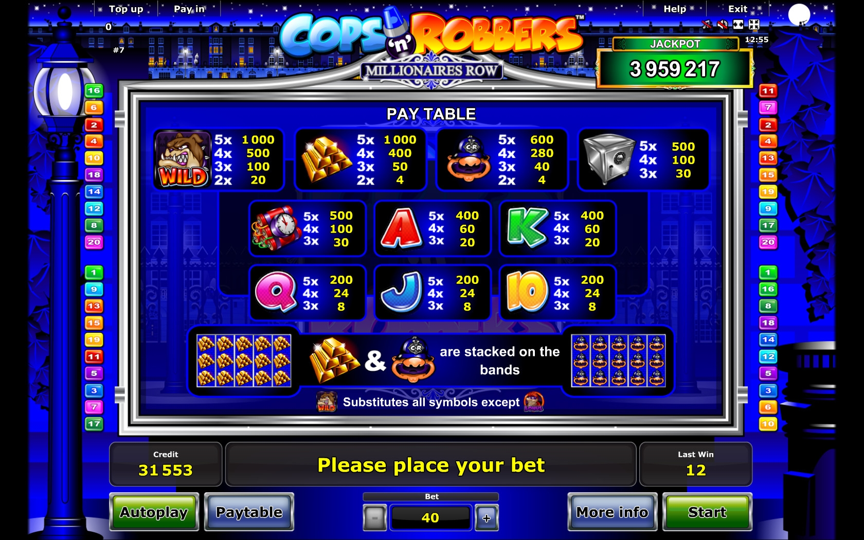 Make it big in Cops ´n Robbers: Millionaires Row slot
