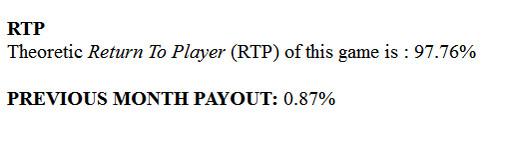 slot machine payout percentage
